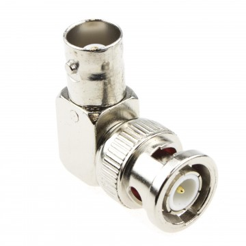 BNC Female Socket to Plug Right-Angled Adapter for CCTV Camera...