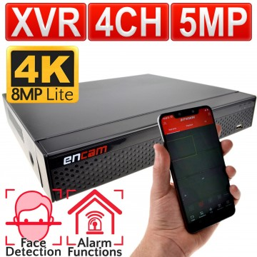 encam XVR/DVR 4 Channel H.265 5MP CCTV 5 in 1 Recorder AHD TVI...