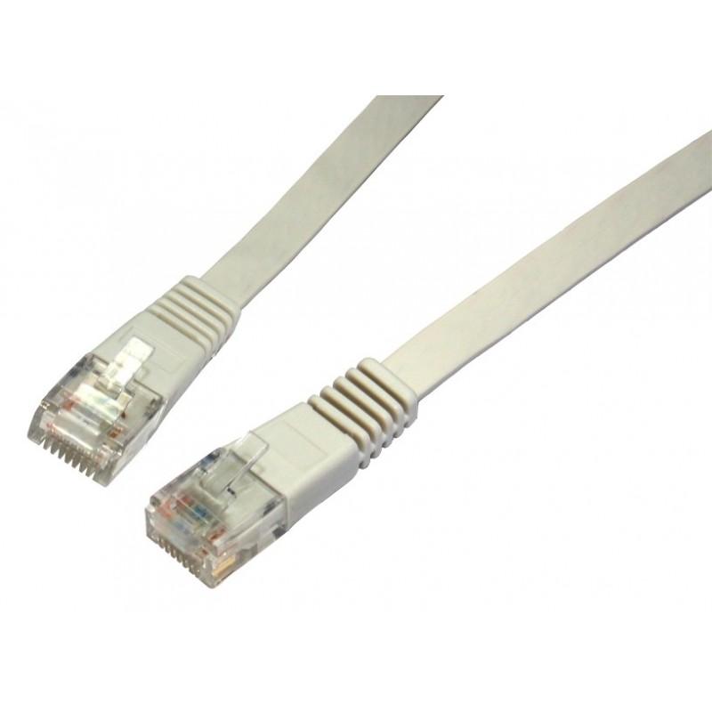 FLAT GREY Ethernet Network LAN Patch Cable LSOH LSZH Low Smoke  3m