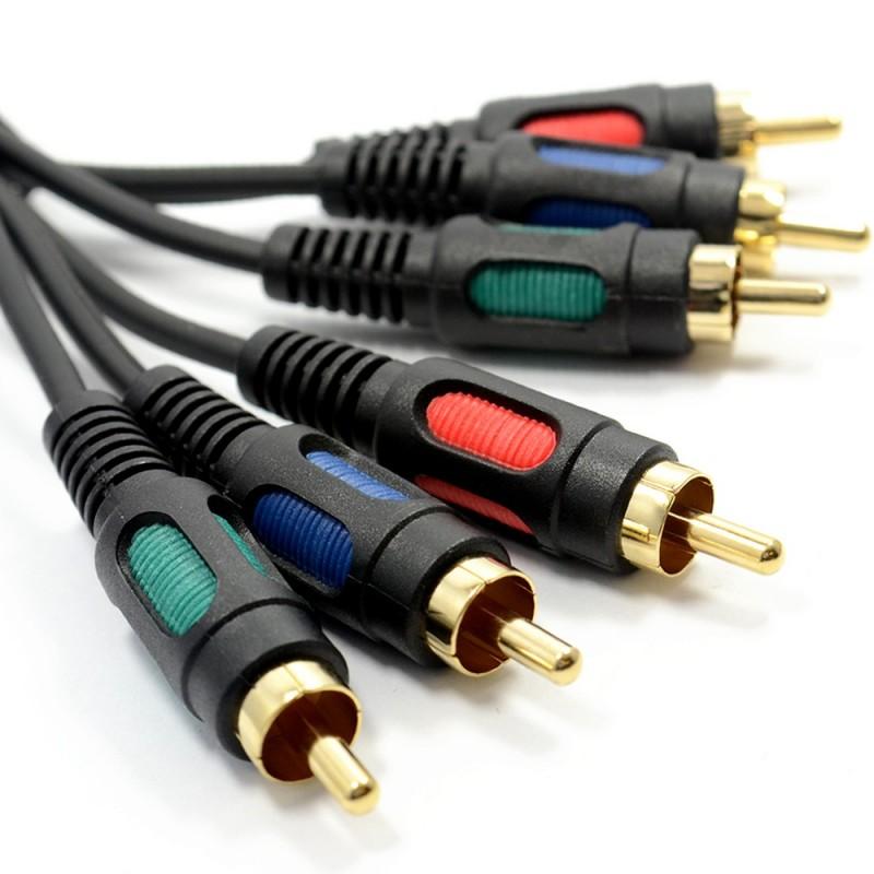 Component Video RGB YUV 3 Phonos To 3 RCA Phono Cable Lead   1m
