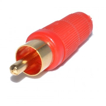 RCA Phono Solder Terminal for 5mm Audio Cables RED [10 Pack]