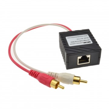 Audio Sender Over LAN Cat5 Ethernet Cable Phono RCA Extender...