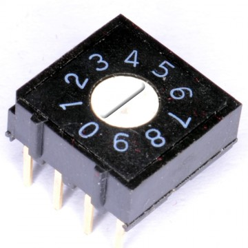 Rotary DIP Switch 10mm x 10mm Alloy Copper 25mA 50V