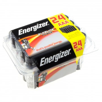Energizer Alkaline Power Family Pack AAA Small Batteries [24 Pieces]