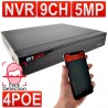 encam CCTV NVR Network Recorder upto 5MP 9 Channel with 4 x POE Ethernet IP Cameras