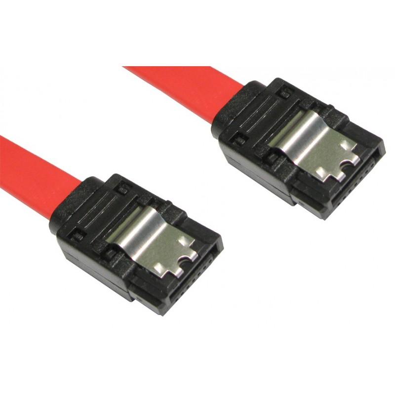LOCKING Straight SATA Plug to Straight SATA Plug Cable Lead 45cm