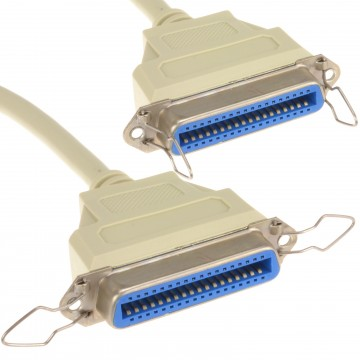 Centronics IEEE-1284 Parallel Printer Cable 36 Pin Female to...
