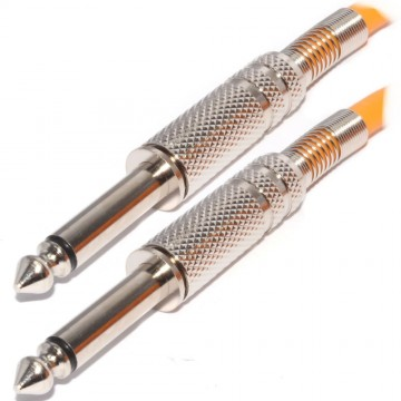 Pulse 6.35mm Low Noise Guitar Cable Nickel Connectors ORANGE...