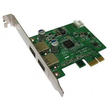 USB 3.0 Superspeed 2 Port External 5Gbps PCI Express Card