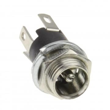5.5 x 2.1mm DC Power Socket Panel Mount Solder Terminal End Adapter