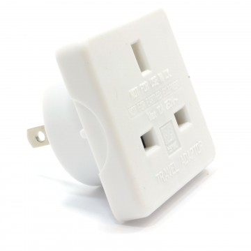 US/USA/United States Travel Adapter Plug to UK 3 pin Socket