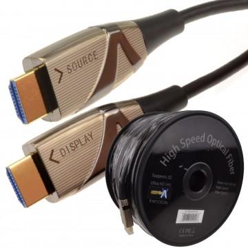 HDMI Active Optical Cable AOC Fiber Optic HDR 4K 2160P ULTRA SLIM 100m