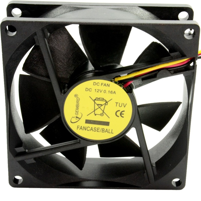 Case Fan for PC Tower 80mm x 80 x 25mm 12V 0.16A Ball Bearing 3 Pin