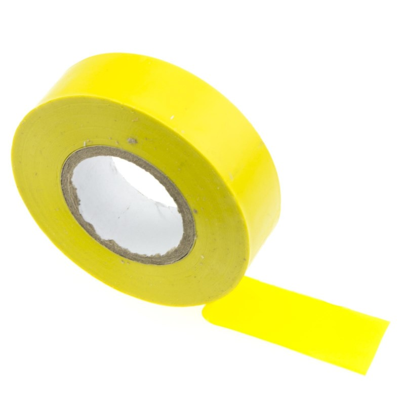 PVC Electrical Wire Insulation/Insulating Tape 19mm x 20m Yellow