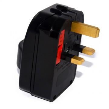 Schuko Euro Plug Socket to 3A 3 Pin UK Plug Adapter [Earthed]
