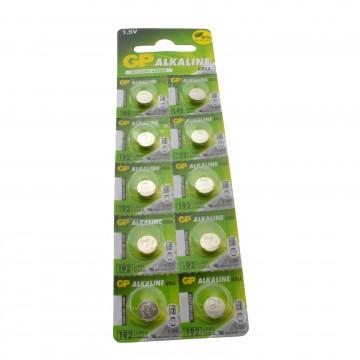 GP Alkaline Cell Battery LR41 192 1.5V [10 Pack]