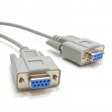 Serial RS232 Null Modem Cable - DB9F to F - 3m