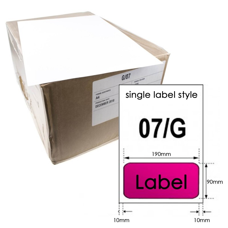 A4 Paper with Integrated Peel Off Label for Invoice/Shipping Label