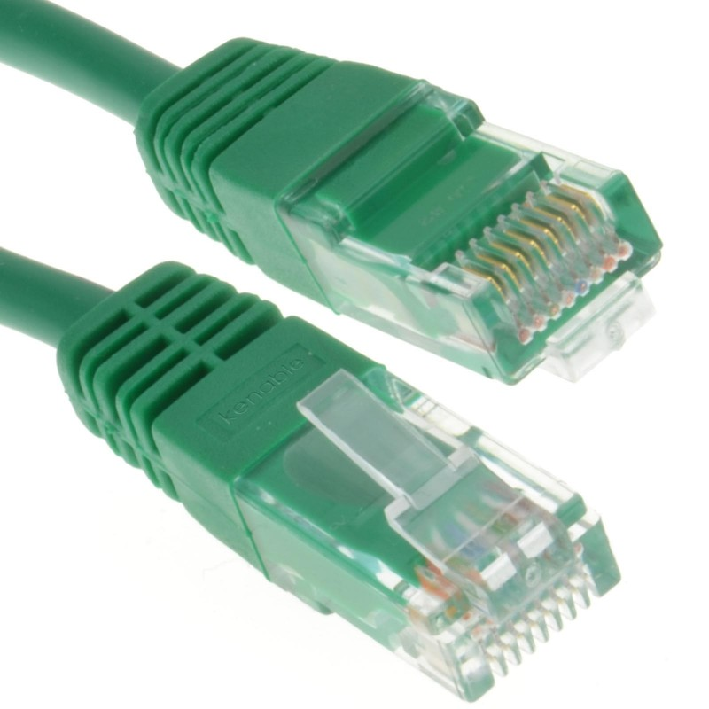 Green Network Ethernet RJ45 Cat-5E UTP PATCH LAN COPPER Cable Lead 20m