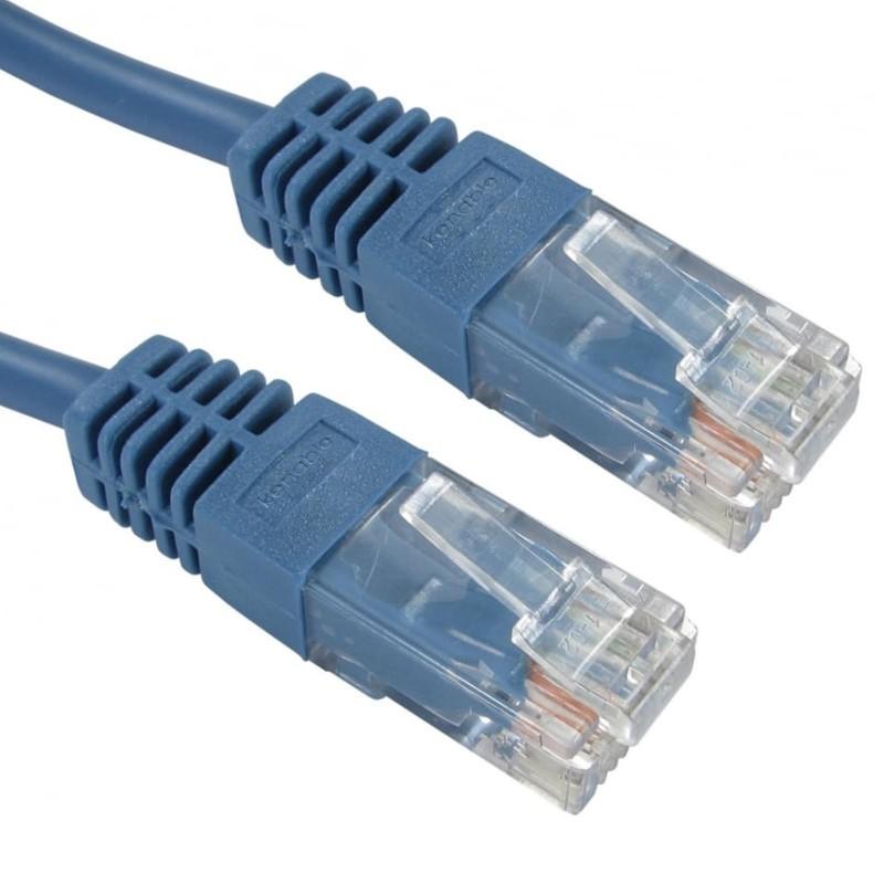Blue Network Ethernet RJ45 Cat-5E UTP PATCH LAN COPPER Cable Lead 15m