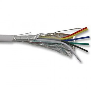 Alarm Security SCREENED CCA Cable 6 Core White 100m