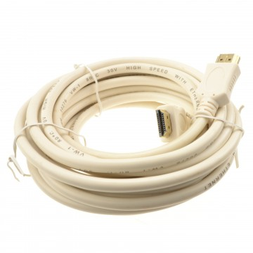 HDMI 1.4 High Speed Video Cable for TV PC DVR NVR Off-White MARKED  5m