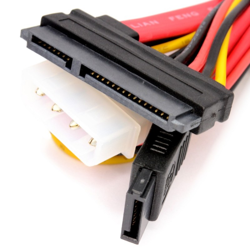 SATA 1.5GB/s & 3Gb/s Serial Combo Data & Power Cable 0.5m