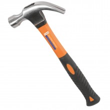 16oz Claw Hammer with Fibreglass Handle & Forged Carbon Steel...