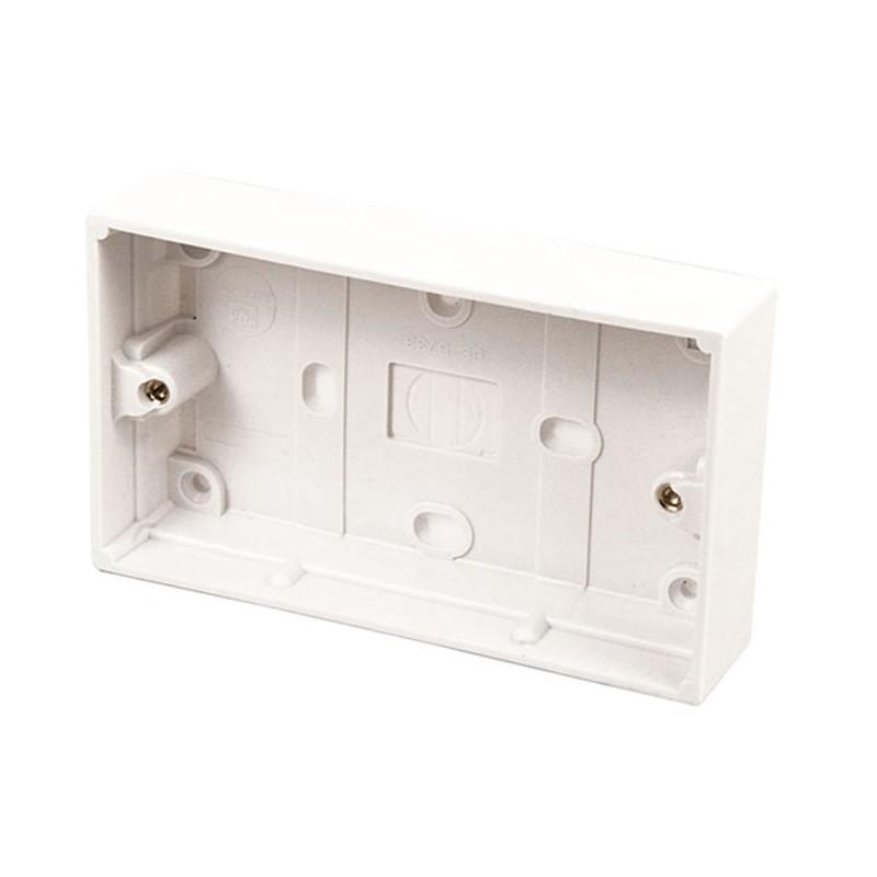 Surface Mount Back Box Pattress Box 2 Gang 25mm