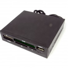 3.5 Internal Memory Card Reader with Front USB 2.0 port BLACK