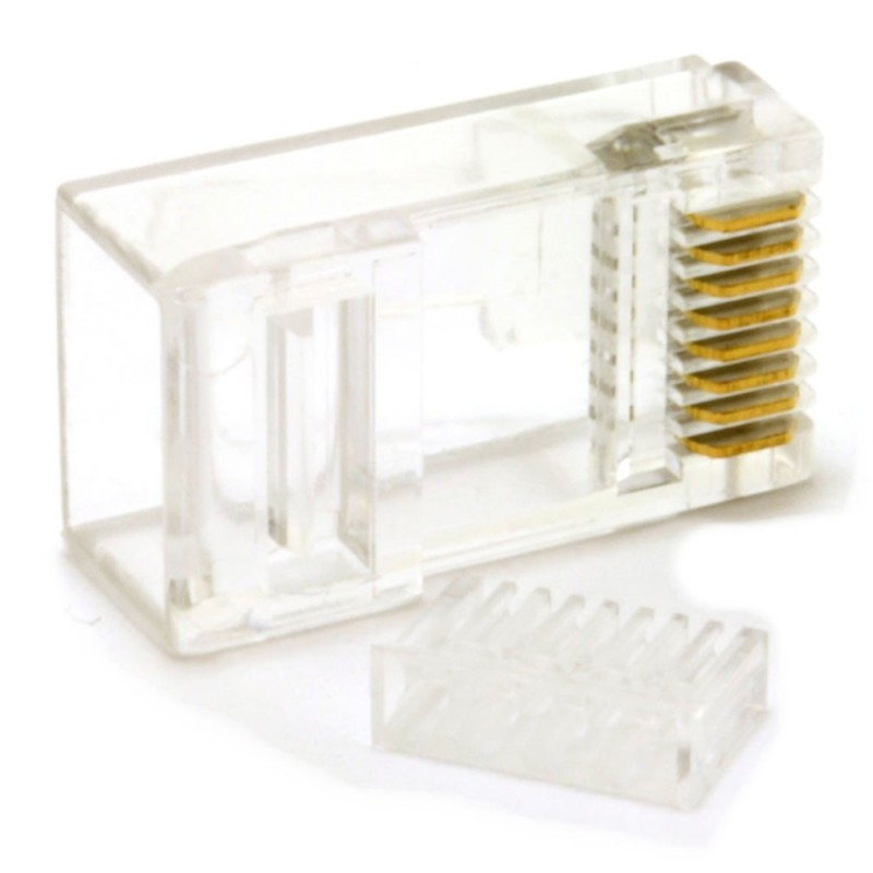Cat6 RJ45 LAN Crimps Ends Connectors TWO PIECE [10 Pack]