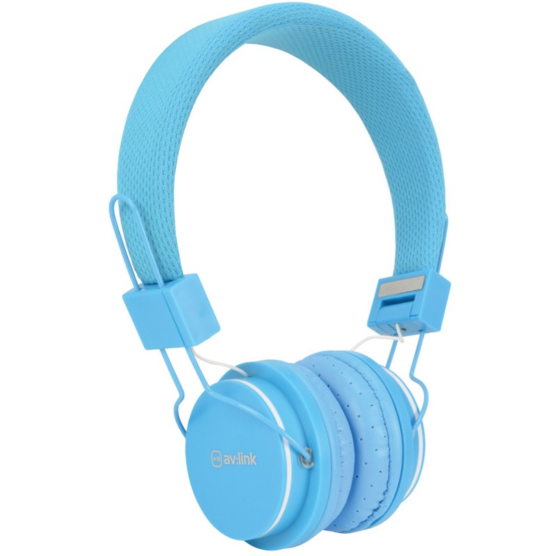 Kids Headphone with Hands Free Mic Control & Cushioned Earpads Blue