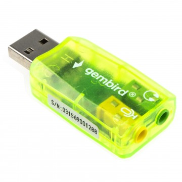 USB Sound Card Adapter 3.5mm Replacement for Headphone &...