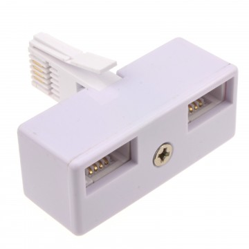 BT Telephone Splitter 2 way Sockets 1 x Socket to 2 BT Phone...