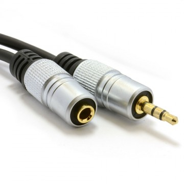 Pro Audio Metal 3.5mm Jack Stereo Headphone Extension Cable...