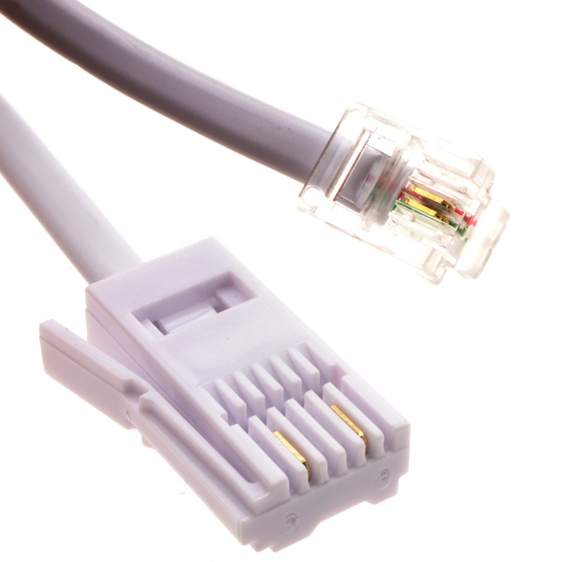 BT to Modem RJ11 Cable Dialup/Sky - 2 wire - 5m