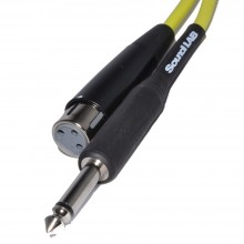 PRO Microphone Cable XLR Female to Mono Jack 6m Yellow