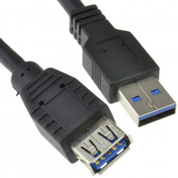 USB 3.0 SuperSpeed Extension Cable Type A Male to Female BLACK 3m Long