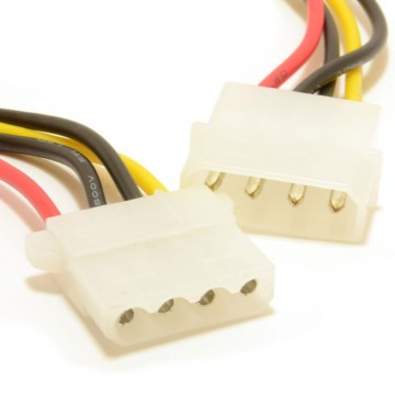 Power Extension Cable 4 pin LP4 Molex Male to Female 50cm