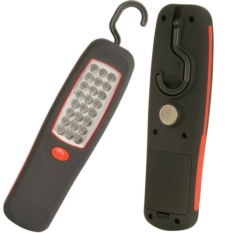 WL024 24 LED Bright Work Light Torch with Hook and Magnet UK