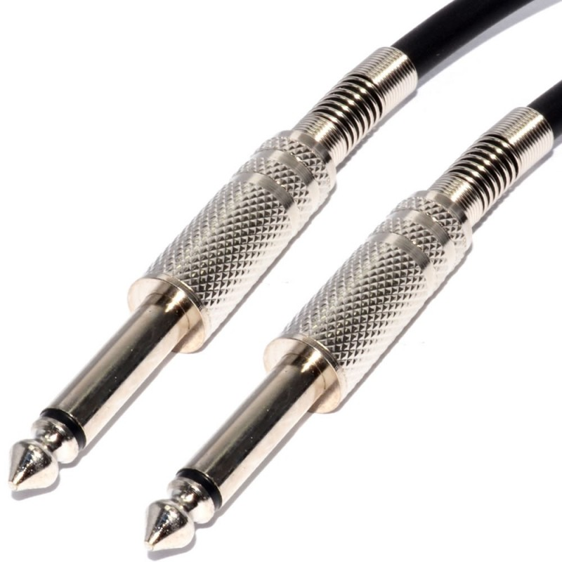 Pulse 6.35mm Low Noise Guitar Cable Nickel Connectors BLACK Lead 5m
