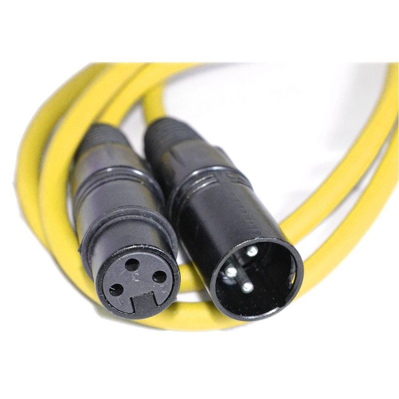 Balanced XLR Microphone Lead Male to Female Audio Cable YELLOW 1.5m