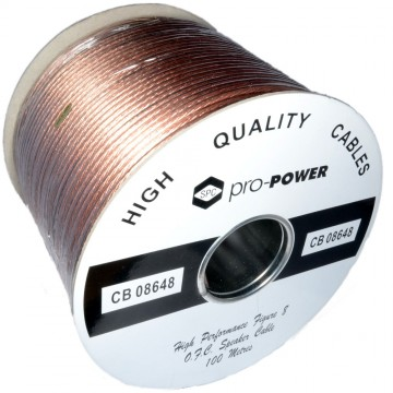High Performance Extra Flexible OFC 196 Strand Speaker Cable Reel 100m