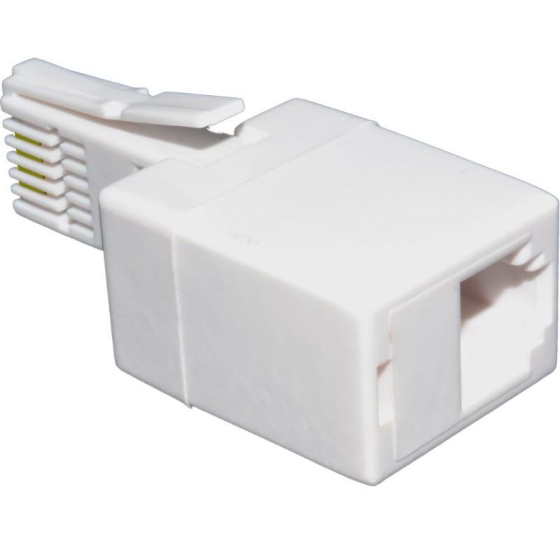 BT 431A Plug to 2 Pin RJ11 Socket Telephone Cable Adapter