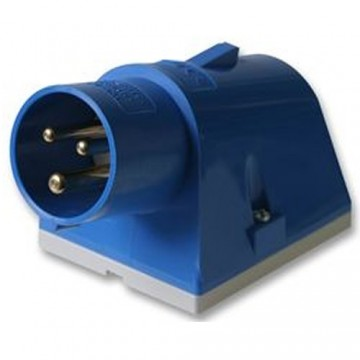 Caravan Site Power Surface Mount PLUG 240V 16A Blue IP44
