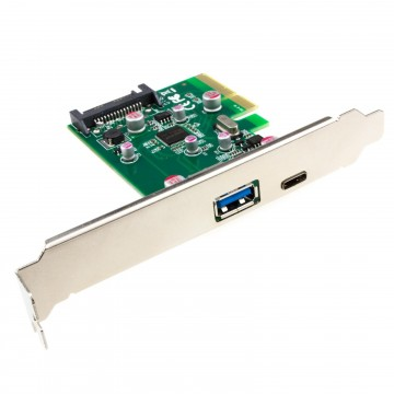 PCI-Express USB 3.0 Card Type C & USB A Female Socket with Low...