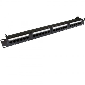 Patch Panel Cat5e RJ45 19 inch Rack Mountable 24 Port & Back Bar