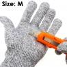 Cut Resistant Safety Work Gloves EN388 Level 5 Washable MEDIUM