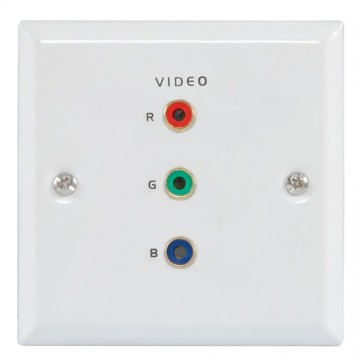 Flush Steel RGB Component Video Steel Wall Face Plate SOLDER...