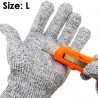 Cut Resistant Safety Work Gloves EN388 Level 5 Washable LARGE